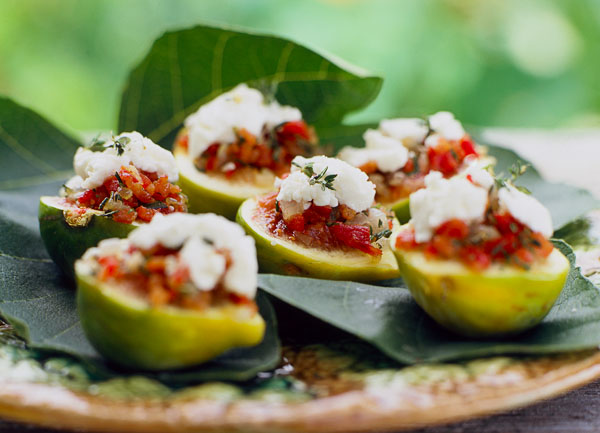 Appetizer, stuffed figs, outdoor