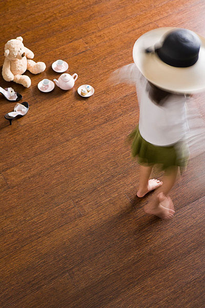 Bamboo Flooring, Girl, Tea Party, Dancing