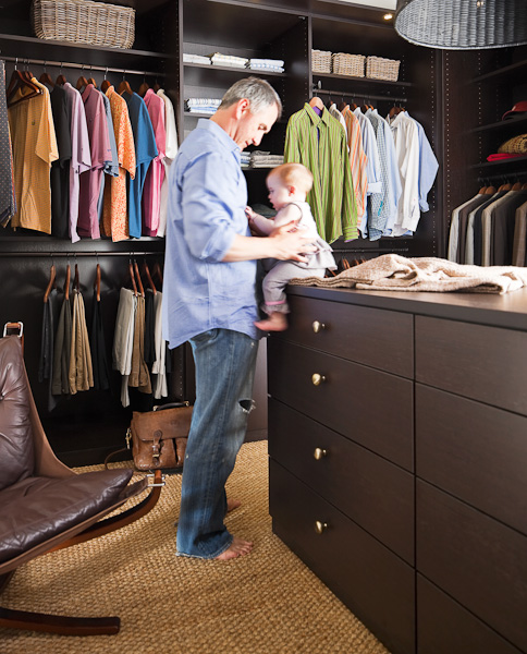 California Closets, Clothes, Closets, Organization, Man, Child, Baby, Father