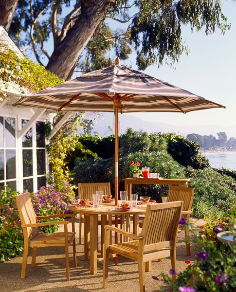 residential, dining, umbrella, garden, water view, patio, furniture